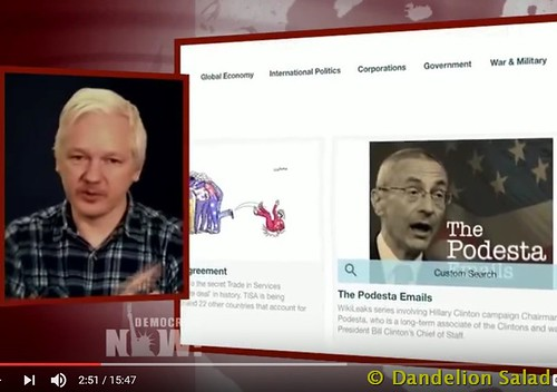 Julian Assange Accuses Democrats of Blaming Russia and WikiLeaks for Clinton Loss