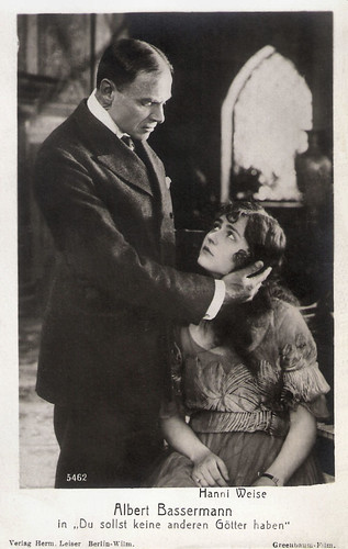 Albert Bassermann and Hanni Weisse in Du sollst keine anderen Götter haben (1917).