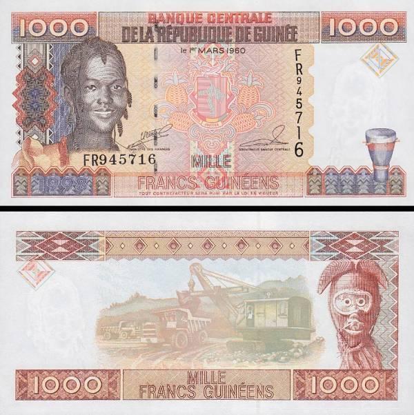 1000 Frankov Guinea 1998, P37
