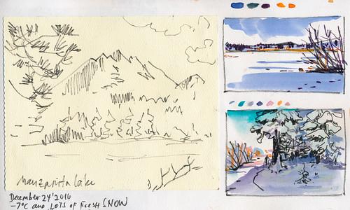 Sketchbook #102: Trip Around Christmas Time
