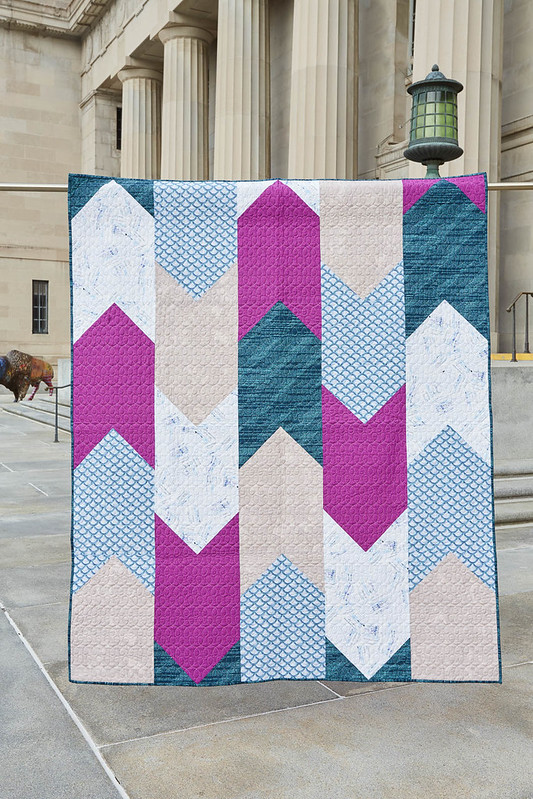 Bookmark Quilt by Amanda Castor of Material Girl Quilts