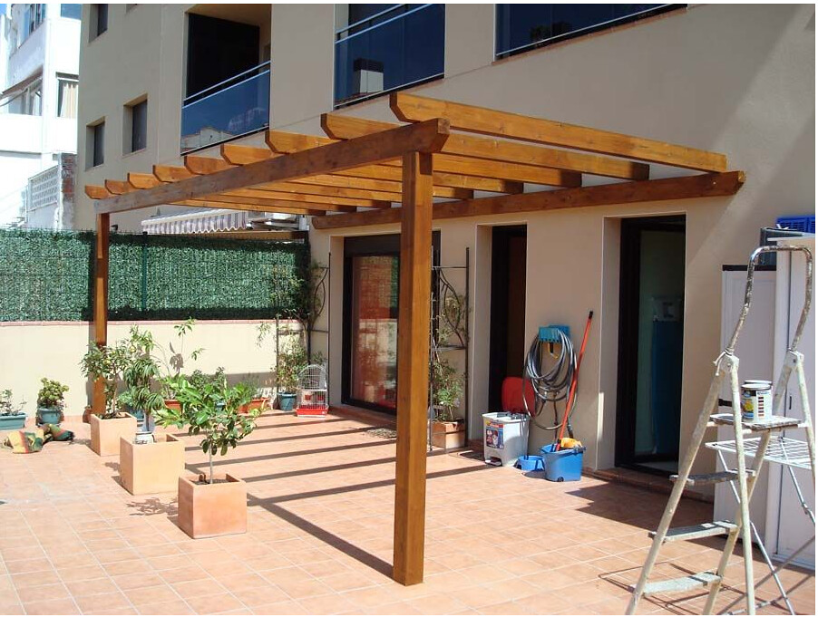 Pergolas madera decoracion terrazas madera teca pino decks en mercado libre - Pergola de madera ...