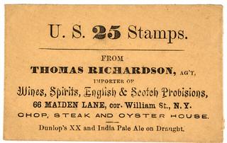 Thomas Richardson postage stamp envelope