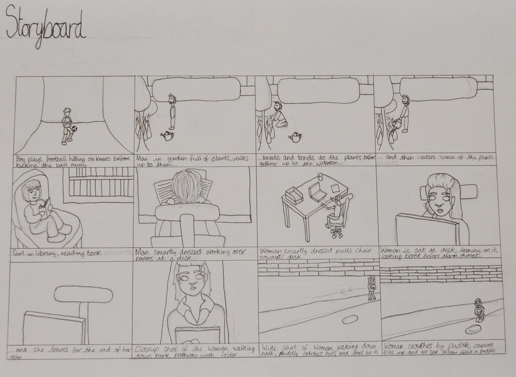 FMP Film 'Colour' 1st Draft Storyboard