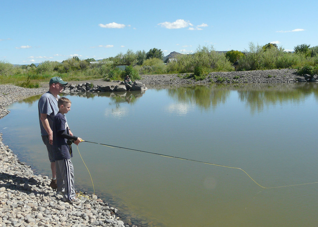 Father son fishing prineville pond odfw photo by the for Father son fishing