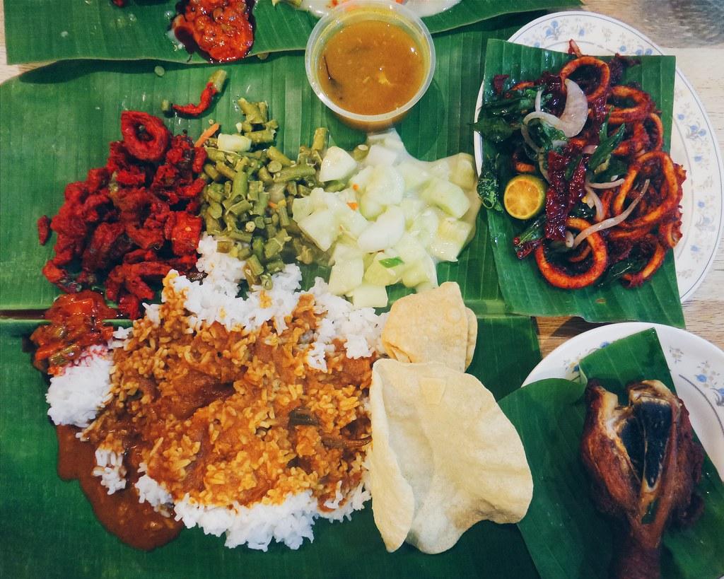Indian Food In Malaysia Banana Leaf