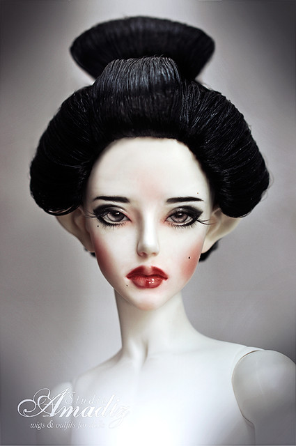 gelled hairstyles : Geisha hairstyle Flickr - Photo Sharing!