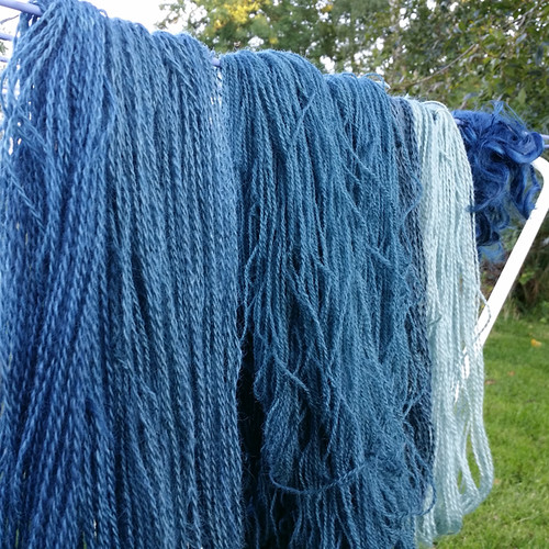 yarn dyed with j. indigo from the garden | by textile practice