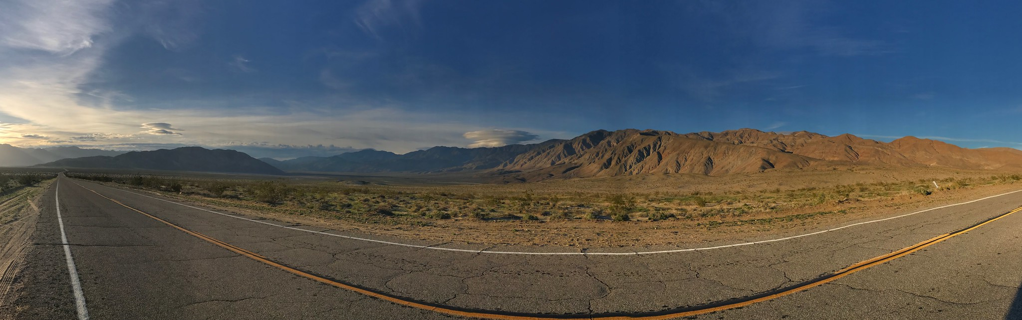 Panorama from State Route 22, the Borrego-Salton Seaway.