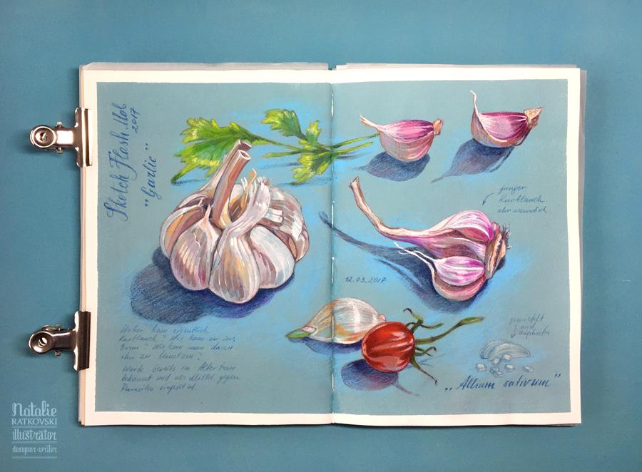 Sketch flash mob 2017: Результаты по теме Чеснок, Nr. 152 Garlic