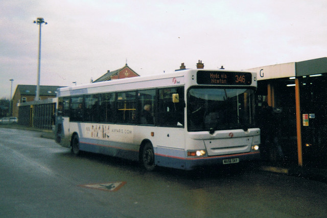 Dennis Dart SLF, WA56 OAY, First Greater Manchester, Ashton-under-Lyne Bus Station,