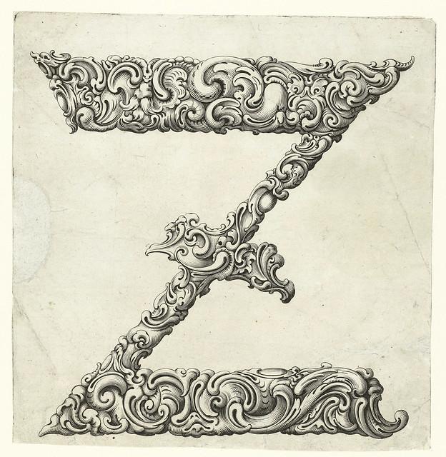 025- Letra Z-Libellus Novus Elementorum Latinorum -J. C. Bierpfaff-  Rijksmuseum