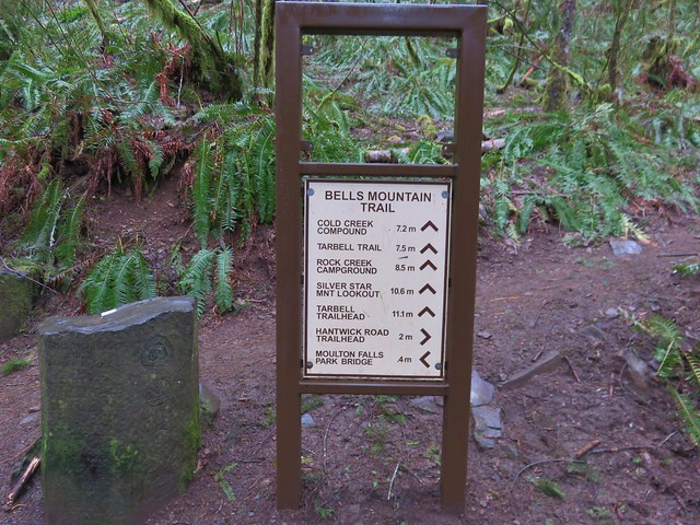 Bells Mountain Trailhead along the Moulton Falls Trail