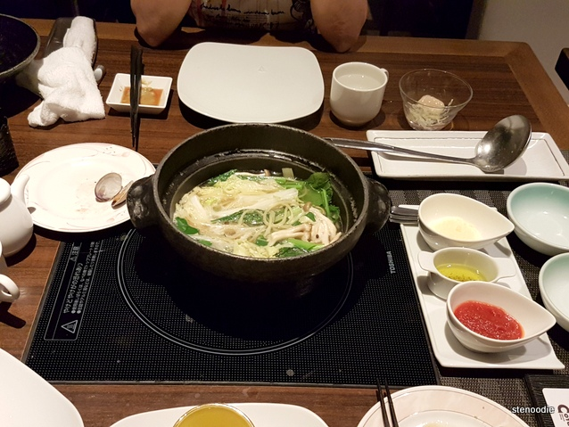 Buffet-style restaurant COTA table hot pot