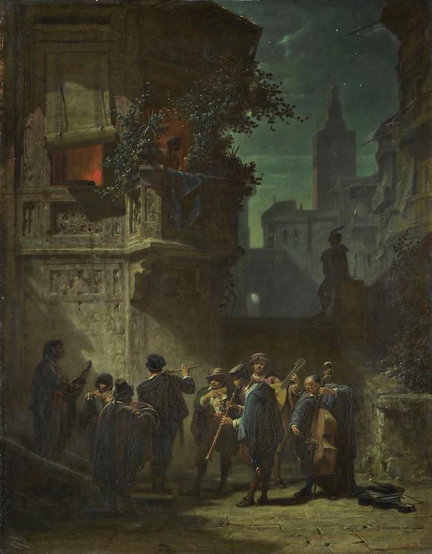 Carl Spitzweg - Spanisches Ständchen, um 1856