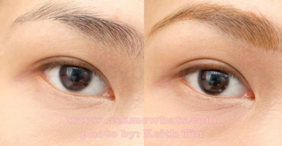 eyebrow gel before after