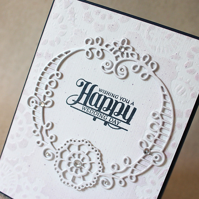Happy Wedding Day Frame Close Up