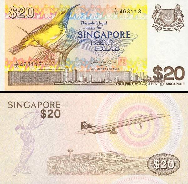 20 Dolárov Singapúr 1979, P12