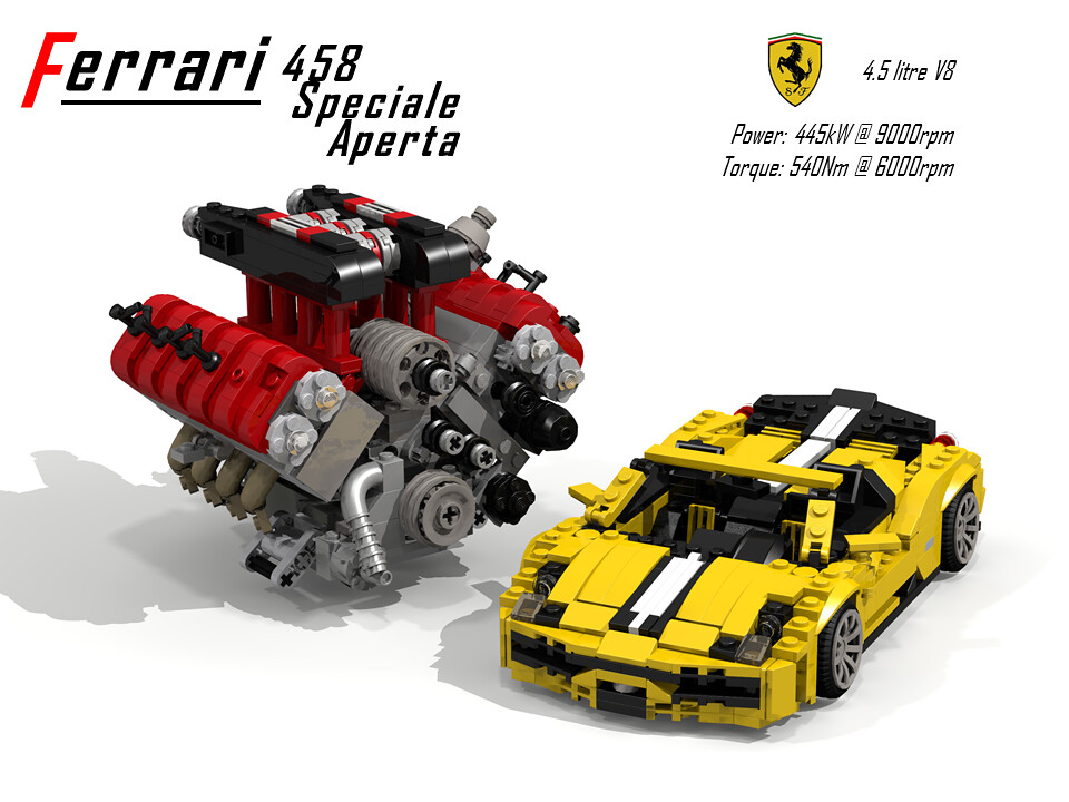Ferrari 458 Speciale A Amp Ucs V8 Engine Paris Motorshow 20