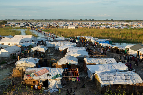 UNMISS Humanitarian Coordinator visits Bentiu IDP Camp with Dutch and British Ambassadors | by United Nations Photo