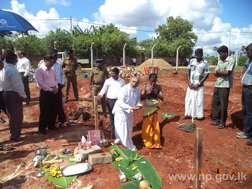 Foundation stone laying ceremony for Girls Safe House at Atchchuveli Certified School held – 01 October 2014