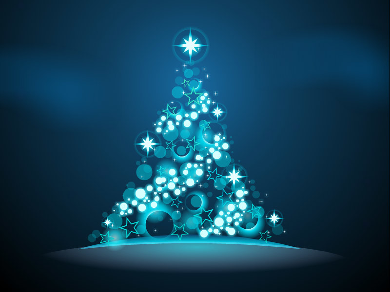 Glowing Christmas Tree - Blue | Twinkling lights and glowing… | Flickr