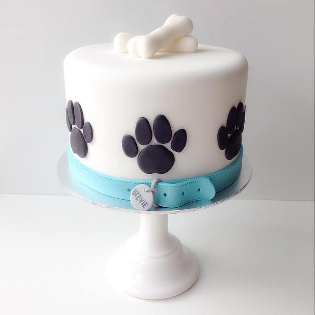 Paw Print Cake Decorations