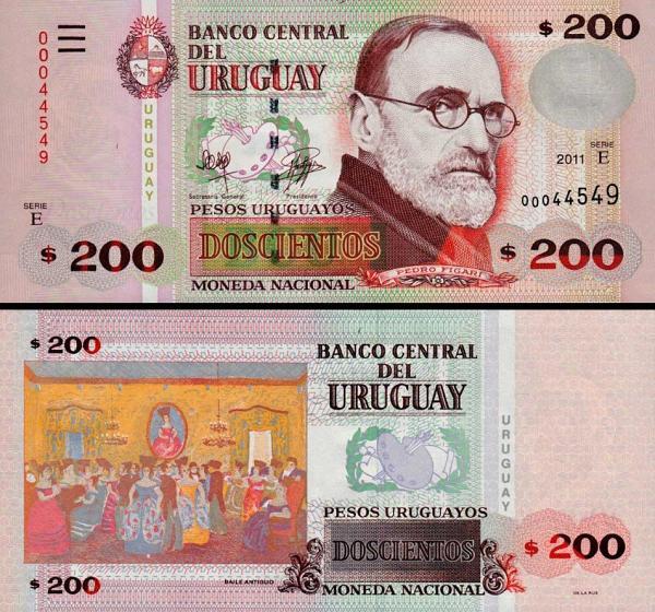 200 Pesos Uruguayos Uruguay 2011, P89c