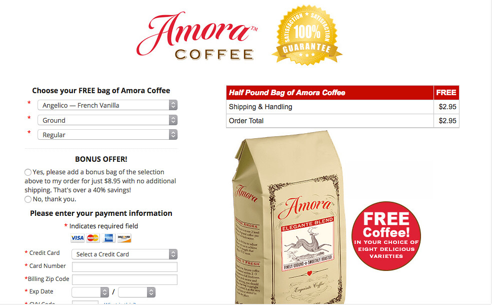 free samples of coffee