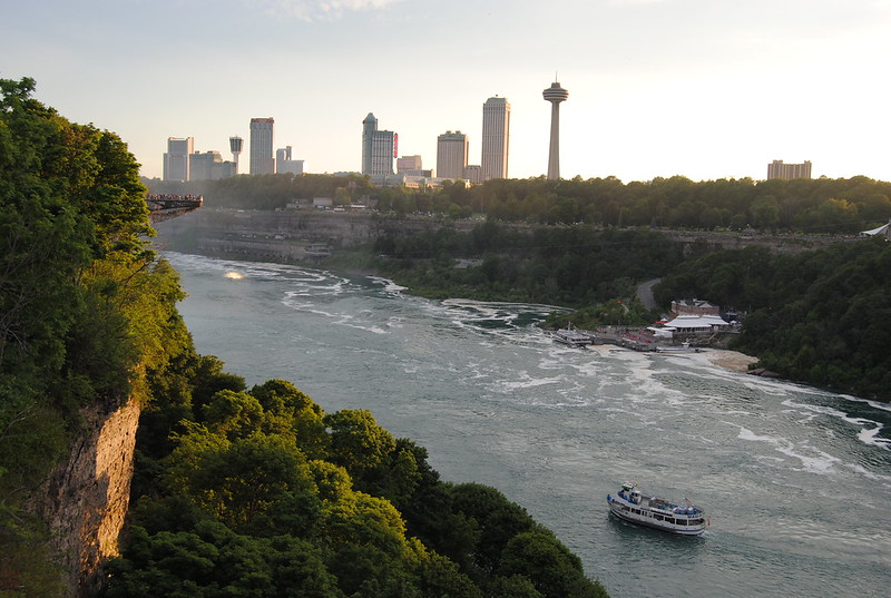 View from Rainbow Bridge, Niagara Falls, NY