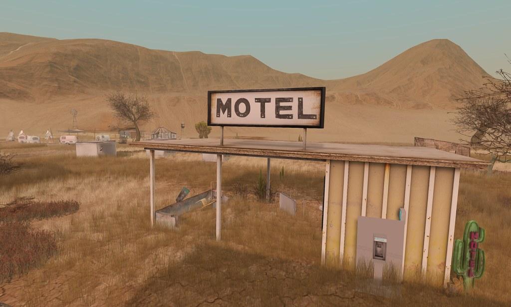 Run Down Motel Trailer Park Type Field Bitacora Viajera
