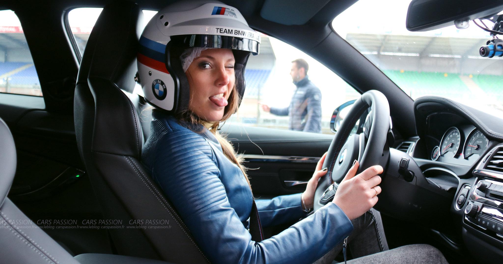 BMW M4 pilotage circuit Bugatti avec Lily