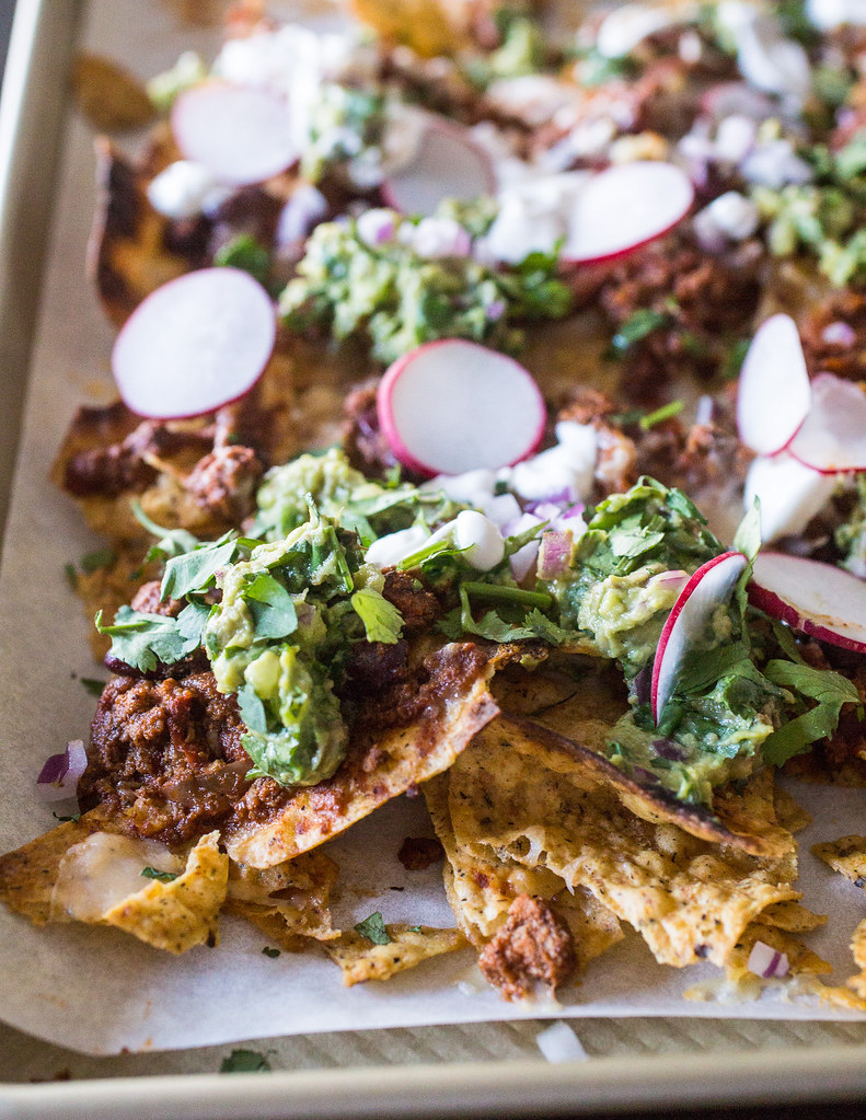 Beef Chili Sheet Pan Nachos