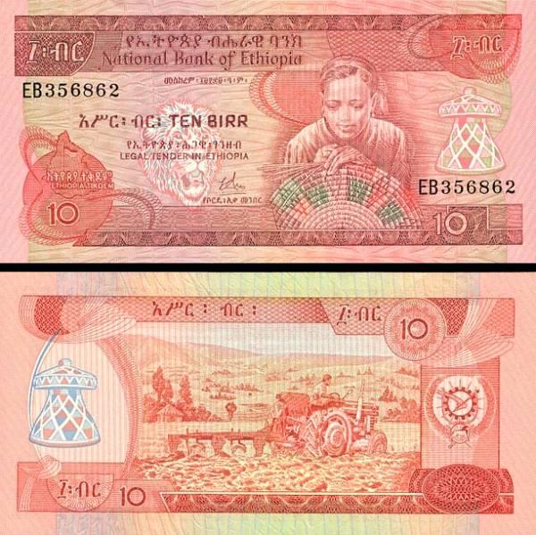10 Birr Etiópia 1969, P32a