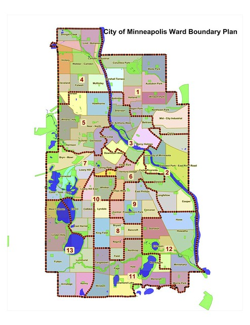 Minneapolis Ward Map