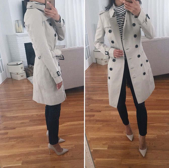 Burberry check chelsea trench jacket review for petites