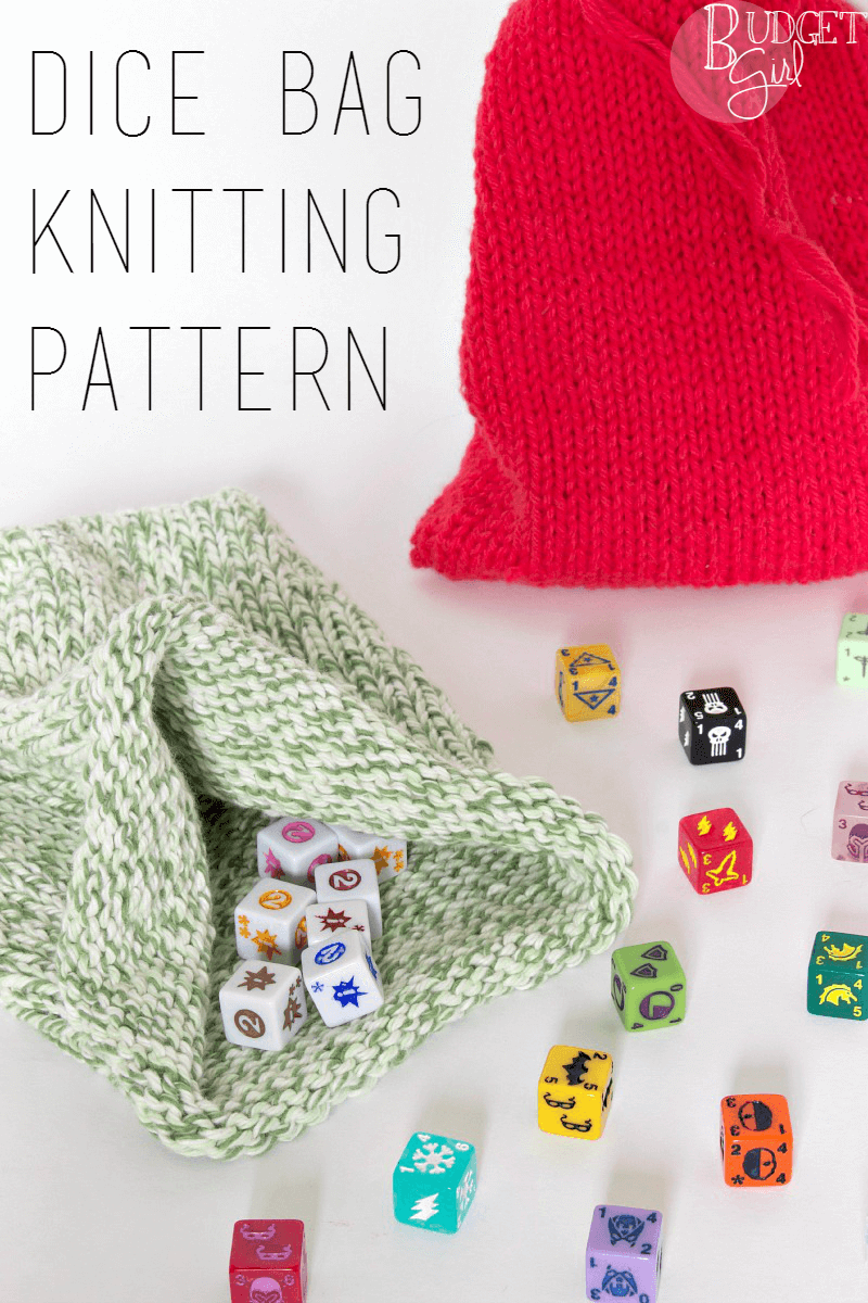 Dice Bag Knitting Pattern - Tastefully Eclectic