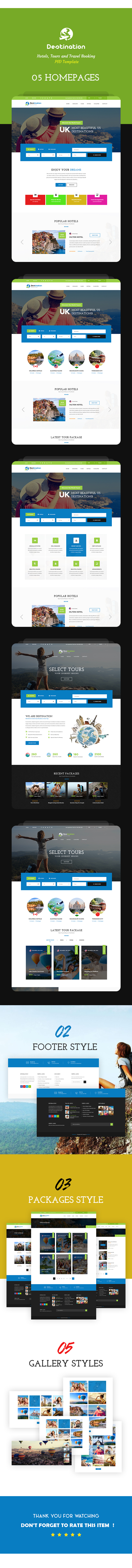 Destination - Hotels, Tours and Travel Booking PSD Template - 2