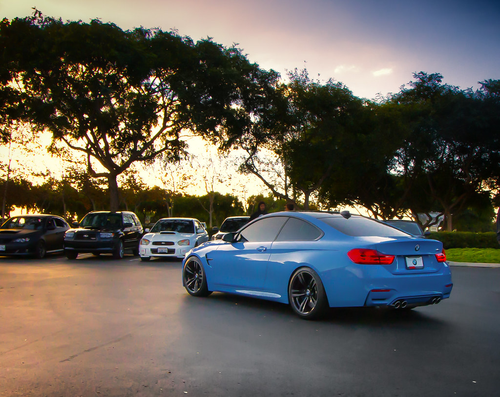 Yas Marina Blue Bmw M4 Take At Carlsbad Cars And Coffee