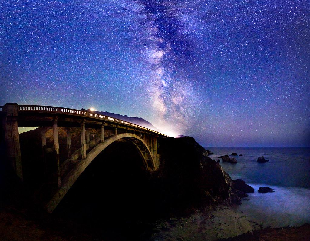 Big Sur Milky Way Bixby Bridge | The milky way above ...