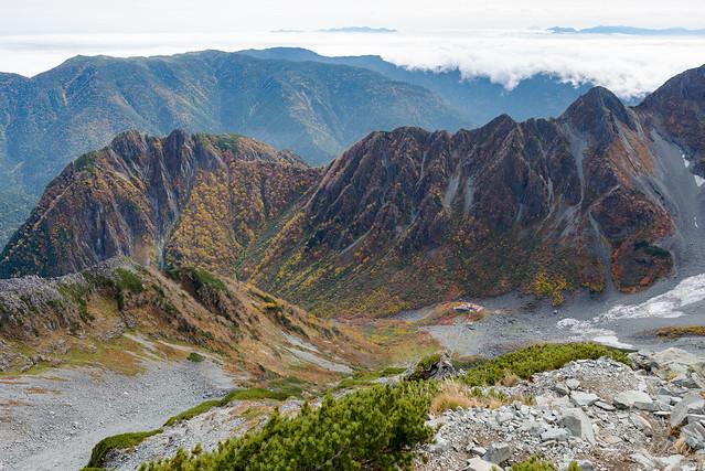 北穂高岳からの景色
