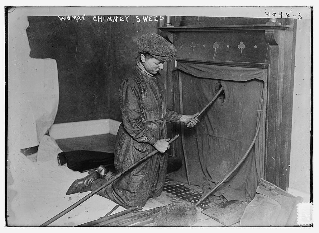 Woman Chimney Sweep Loc Bain News Service Publisher