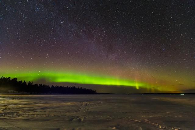 Aurora Boreal y Via Lactea