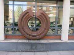 round wood sculpture