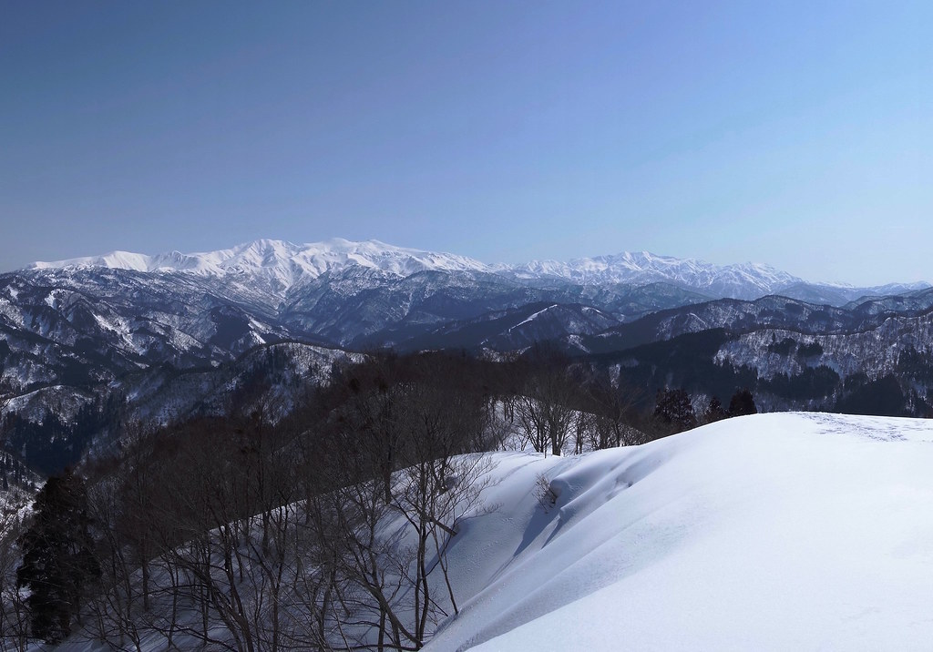 Hakusan mountain range