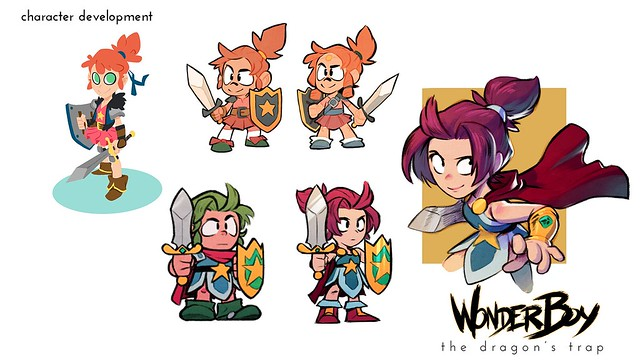 Over The Years Weve Seen Many Different Versions Of Wonder Boy Depending On Specific Game Or Console Even Concept Art Had Radically