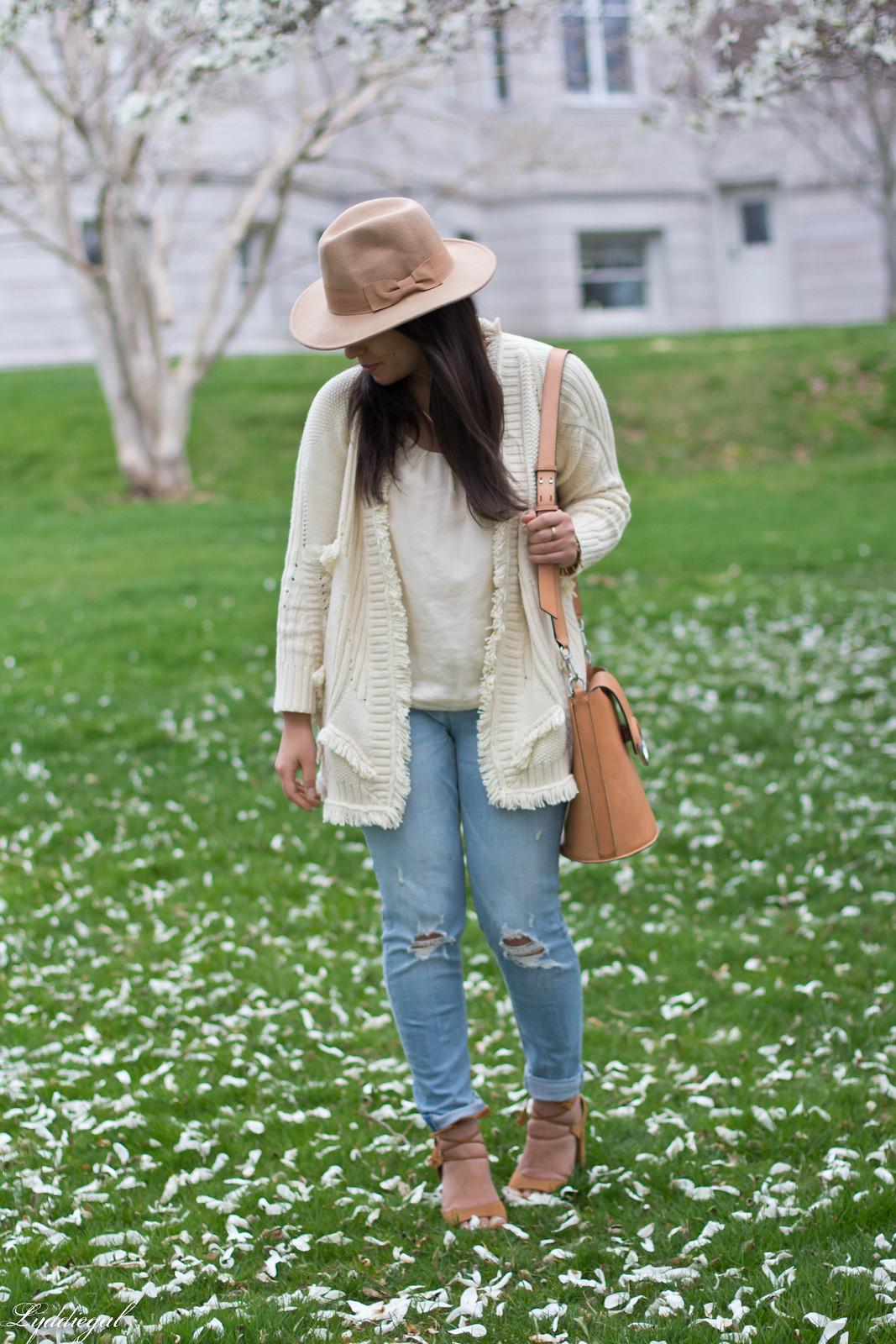 fringe cardigan, distressed jeans, wool fedora-10.jpg