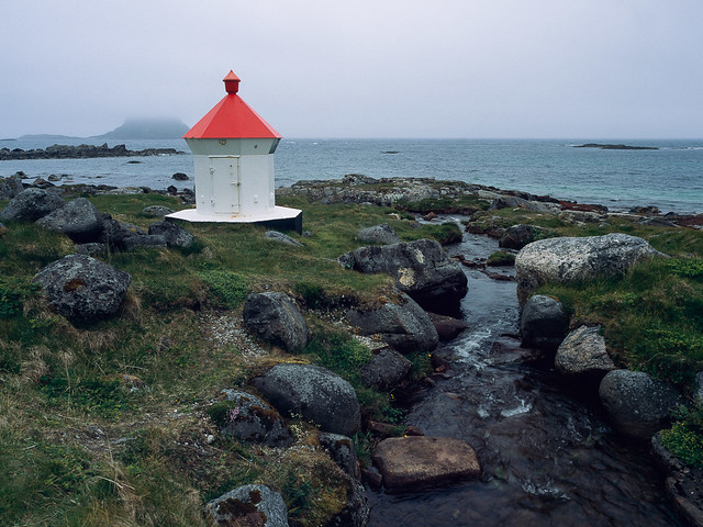 Small lighthouse by the stream