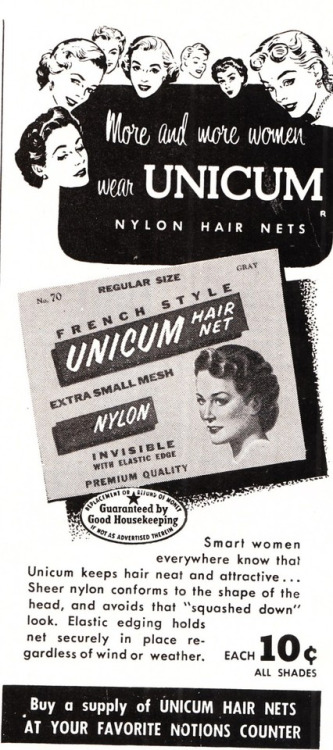 Vintage Hair Net Ad