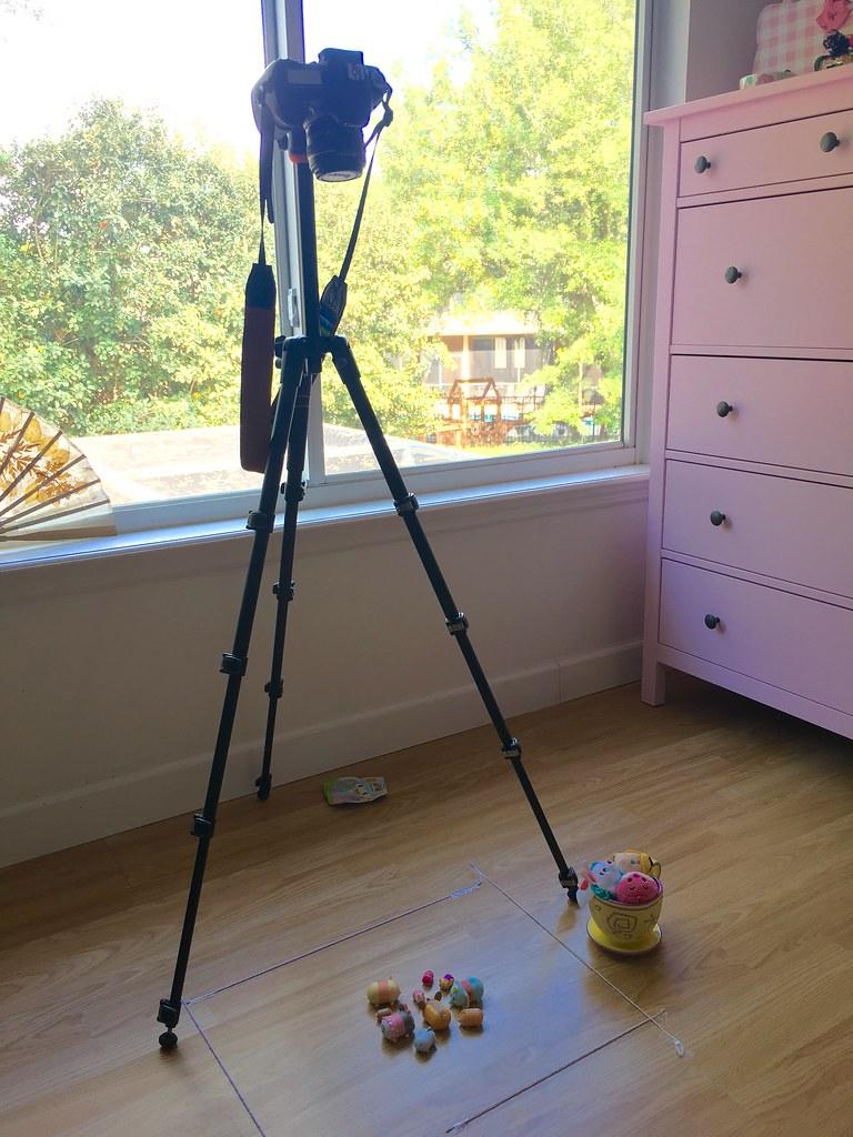 camera on tripod for stop motion setup